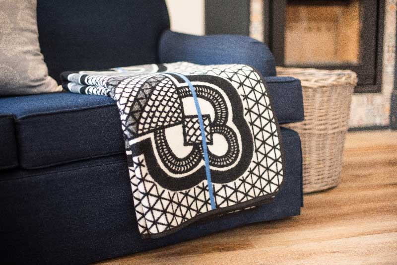 Basotho blanket drapped over chair