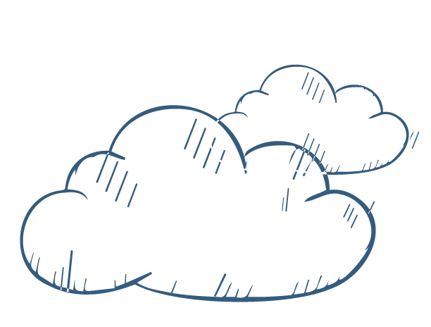 cloud sketch icon of a clouds for Thula Tula blankets and throws