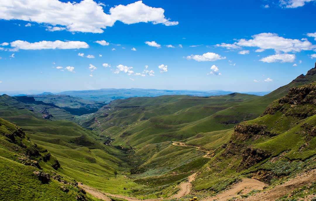Lesotho view of Sani Pass from Toward South Africa