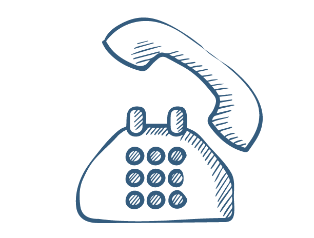 Old fashioned telephone sketch icon for Thula Tula blankets warps and throws