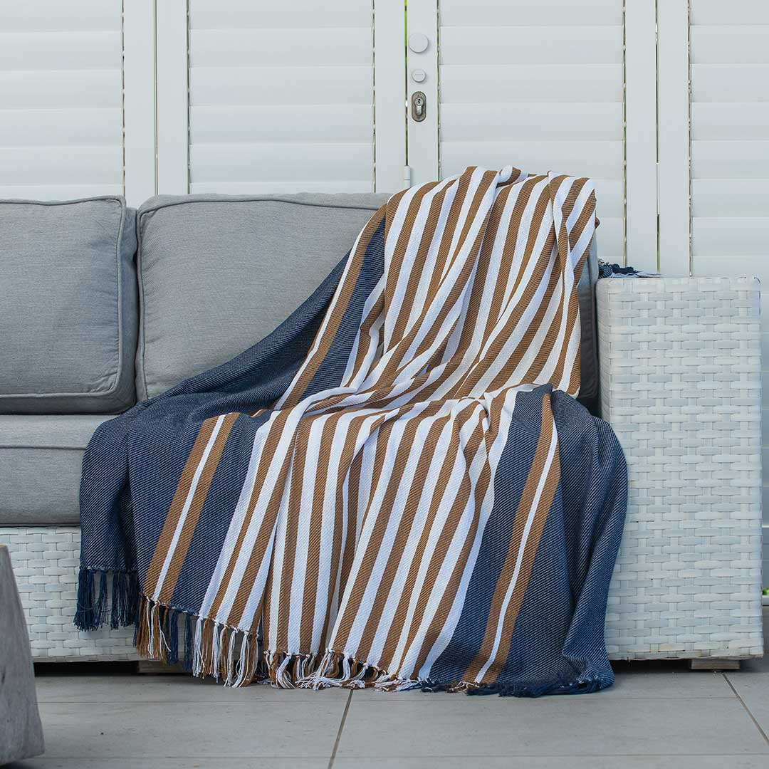 Protea Pinstripe Throw
