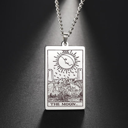 Major Arcana Tarot Card Amulet Pendant Necklace