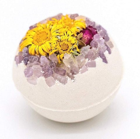 "Artisan Organic Calendula Bath Bomb with Rose Petals 3"" and 2.5"""