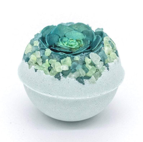 "Artisan Vegan Green Succulent Bath Bomb 3"" and 2.5"""