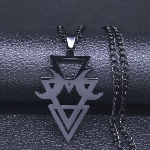 Ay ve Dağ Sacred Geometry Pendant Necklace