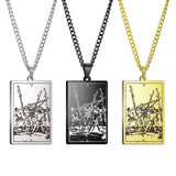 The Suit of Wands Tarot Card Amulet Pendant Necklace