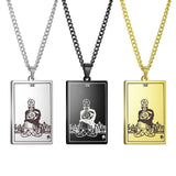 The Suit of Pentacles Tarot Card Amulet Pendant Necklace
