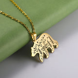 Animal Nature Engraved Pendant Necklace