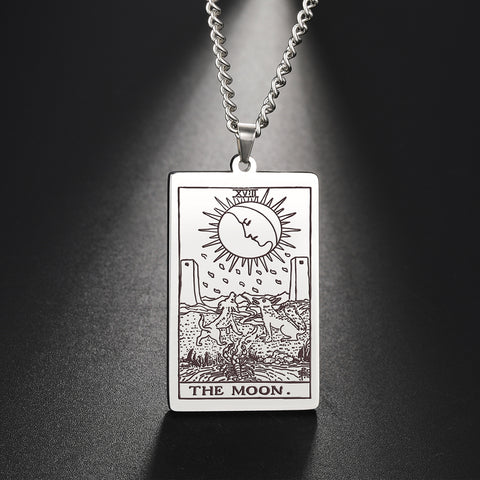 The Major Arcana Tarot Card Amulet Pendant Necklace