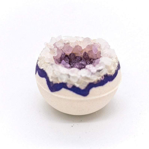 "Artisan Amethyst Geo Vegan Bath Bomb 3"" and 2.5"""