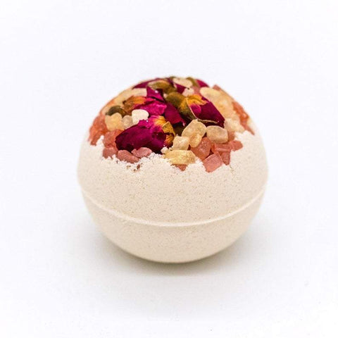 "Artisan Wild Rose Petal Vegan Bath Bomb 3"" and 2.5"""