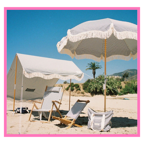 Business and Pleasure Tent and Umbrella to create a shaded space on the beach or the garden for little children
