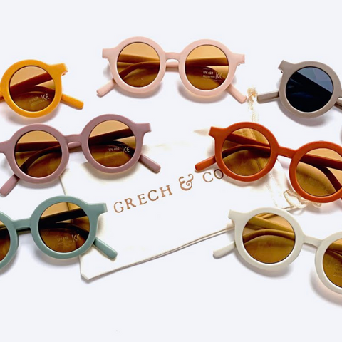 Grech and Co sunglasses range in a variety of colours