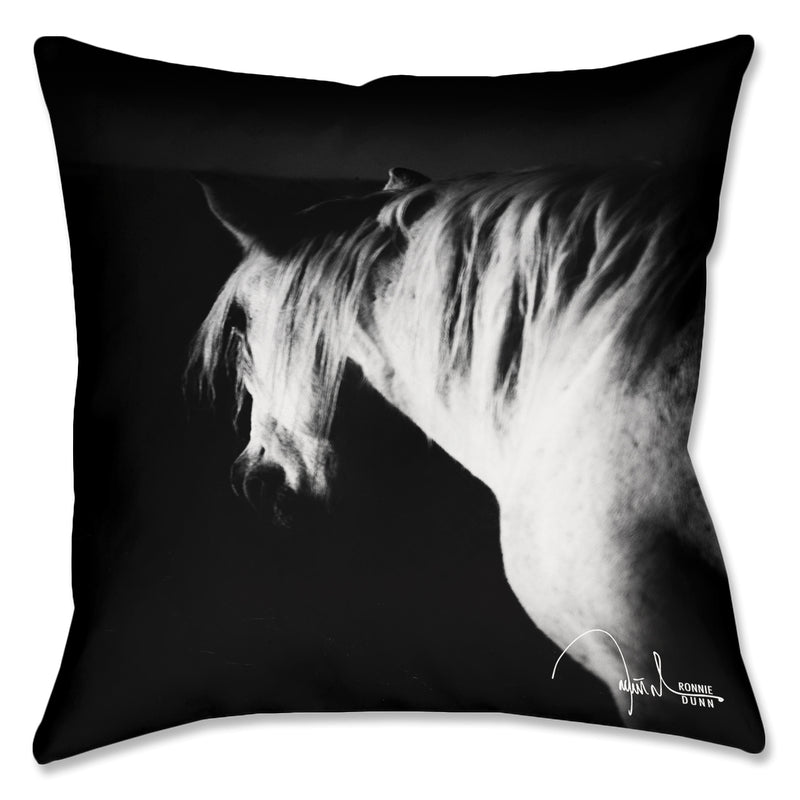 Vanishing Dark Horse Pillow Cover