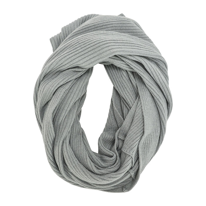 SNOOD KNIT RIB GREY