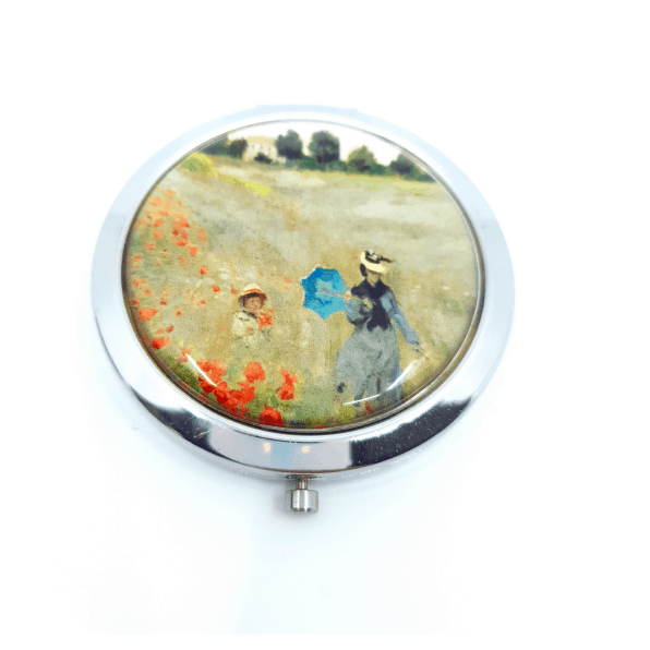 POCKET MIRROR MONET POPPYFIELD