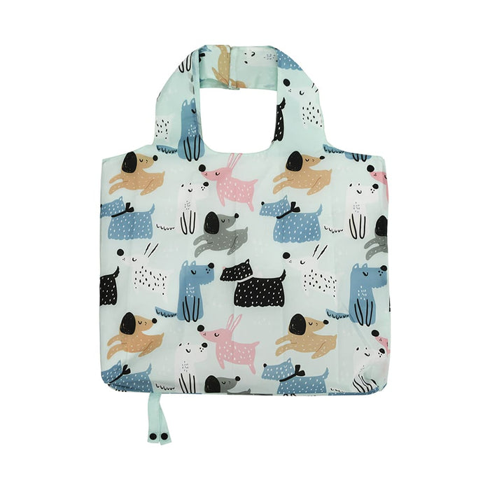 FOLDABLE SHOPPING TOTE DOG MIX