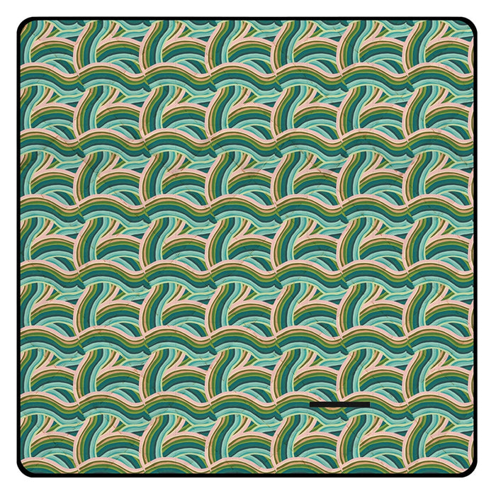 PICNIC MAT CURVED LINES