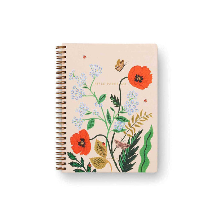 SPIRAL BOUND NOTEBOOK POPPY BOTANICAL