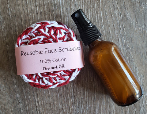 DIY Face Serum with Essential Oils and Reusable Face Scrubbies