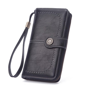 Wallet large capacity clutch black