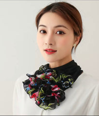 Floral scarves or headwear