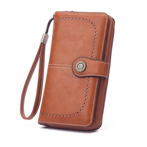 Woman large capacity wallet brown