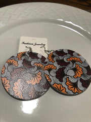 African printed earrings F
