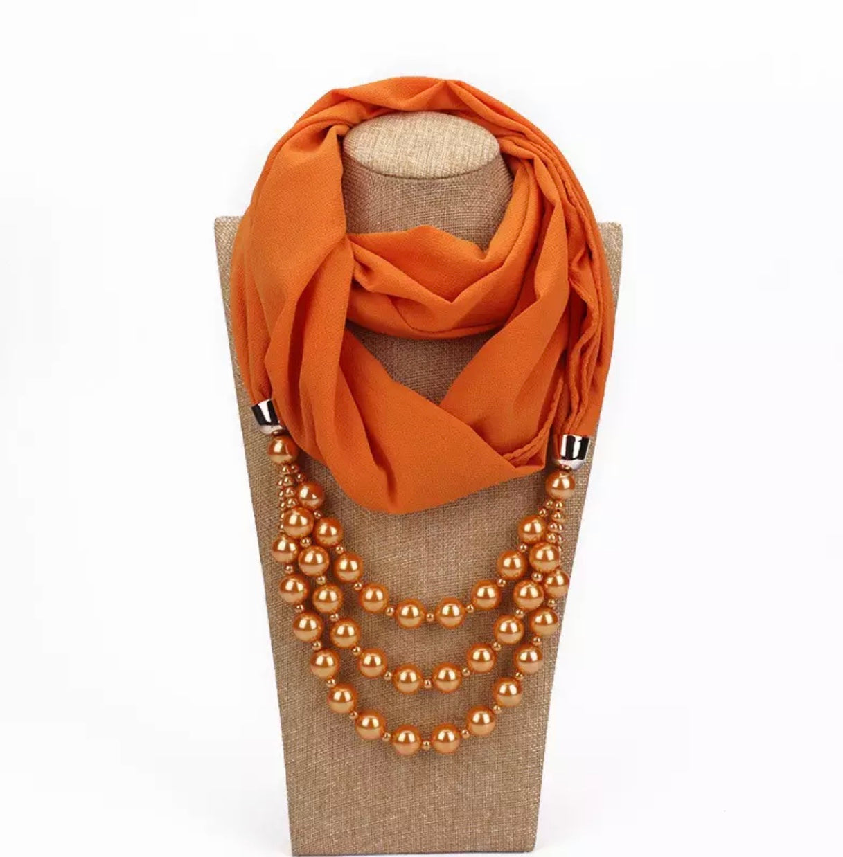 Pendant scarves necklaces