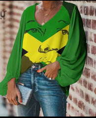 Green one love blouse