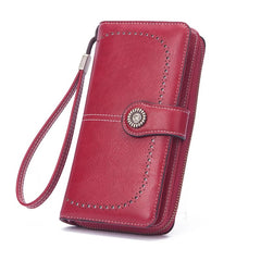 Woman large capacity wallet red