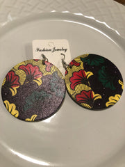 African printed earrings H