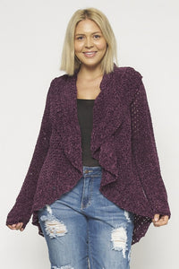 CROCHET PURPLE CARDIGAN