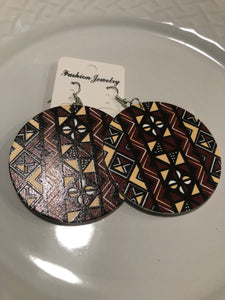 African printed earrings E