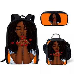 Heart blowing African backpack set