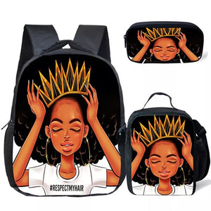 Don't touch my hair backpack set