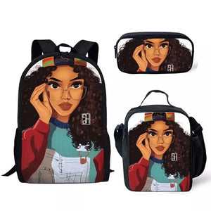 Astronaut backpack set for girls