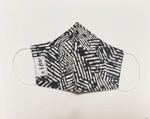 Block Print Lines (Black and White)