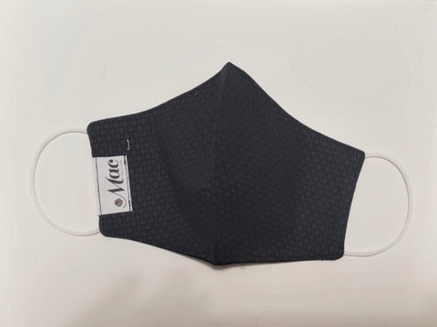 Black with tiny grey dot pattern Mask