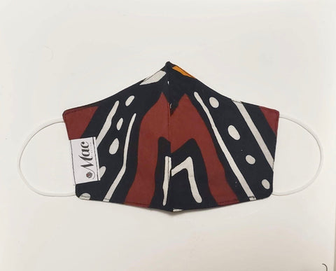African Print 3 - Monarch (Black, Brown, White)