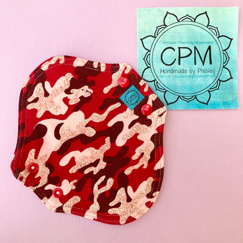 Cloth Menstrual Pads : Red Camoflage