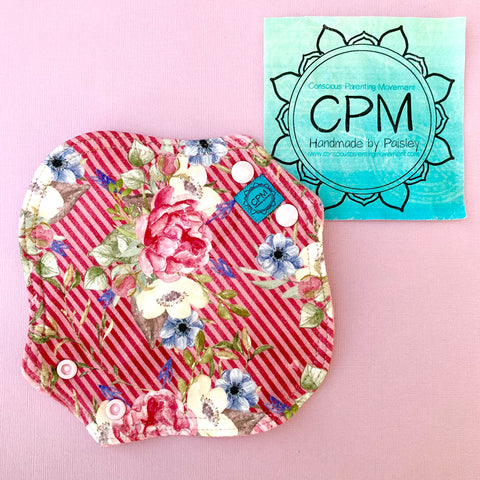 Cloth Menstrual Pads : Pink Floral
