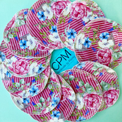Cloth Breast Pads : Pink Floral