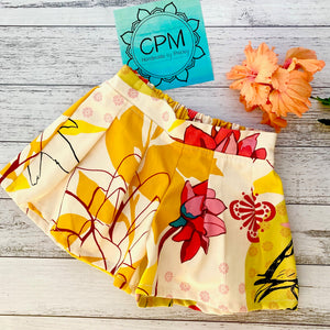 Kids Shorts : Yellow Floral