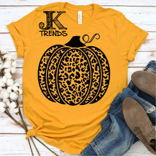 Load image into Gallery viewer, Leopard Pumpkin Fall Shirt Bella Canvas