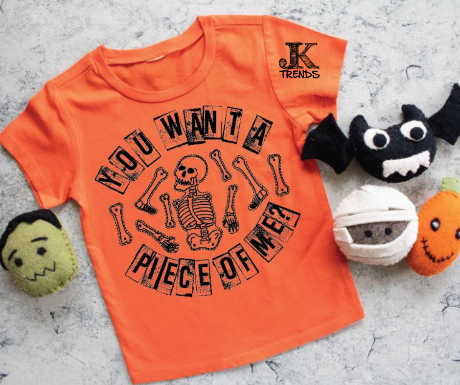 You Want Piece Of Me Youth Halloween Fun Shirt