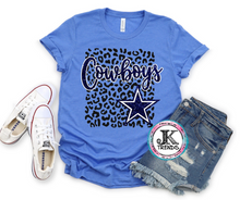 Load image into Gallery viewer, Dallas Cowboys Leopard Bella Canvas Crew Neck