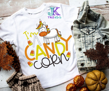 Load image into Gallery viewer, I'm A Candy Corn TODDLER/INFANT Halloween Fun Shirt