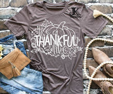 Load image into Gallery viewer, Live a Thankful Life Thanksgiving Fall Festive Shirt