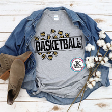 Load image into Gallery viewer, Basketball Leopard Gold Bella Canvas Unisex Crew Neck Shirt